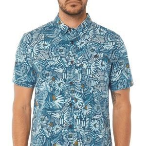 O'Neill Shirt Button Down Hawaiian Blue Men Sz XL